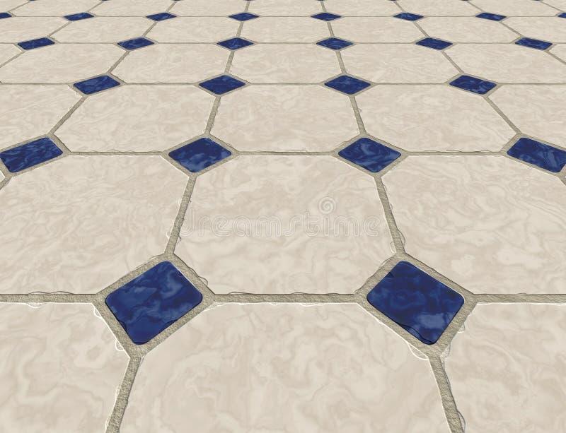 Le marbre a couvert de tuiles l'étage illustration libre de droits