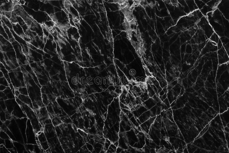 Le marbre noir et blanc abstrait a modelé le fond de texture (de modèles naturels) images stock
