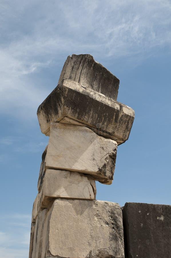 Le marbre ruine le fléau image stock