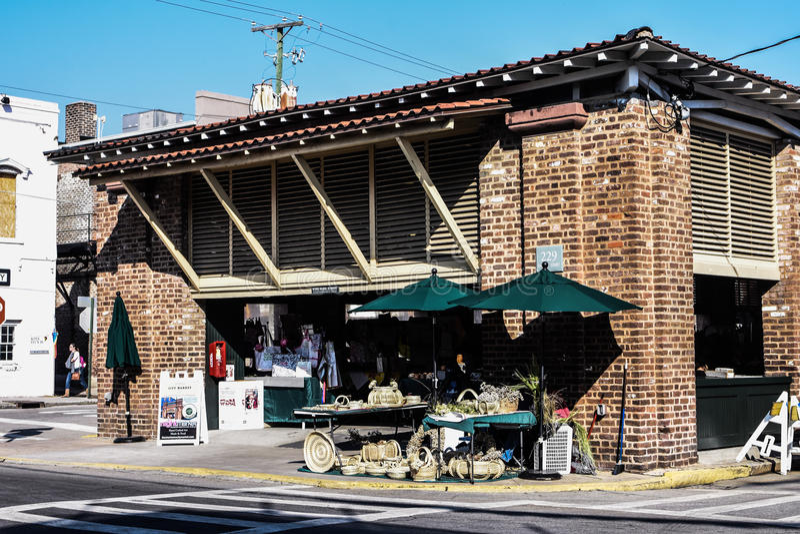 Le marché à Charleston, Sc photo libre de droits