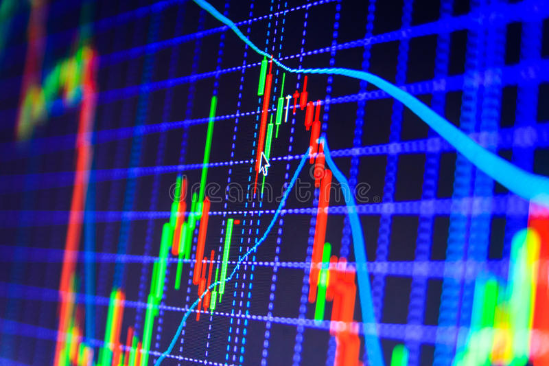 Le marché boursier cite le graphique photos stock