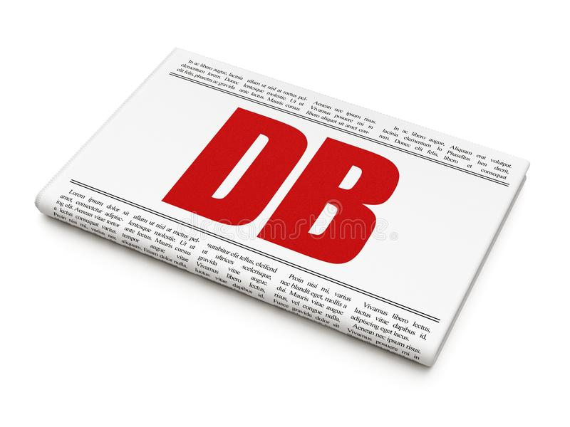 Le marché boursier indexe le concept : DB de titre de journal image libre de droits