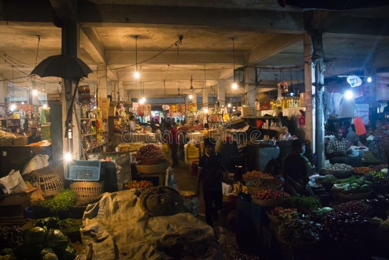 Le marché central dans Srimangal, Bangladesh image libre de droits