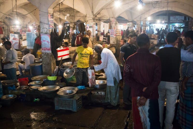 Le marché central dans Srimangal, Bangladesh photo stock