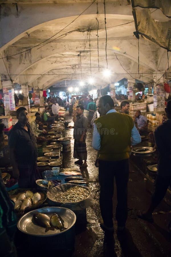 Le marché central dans Srimangal, Bangladesh image stock