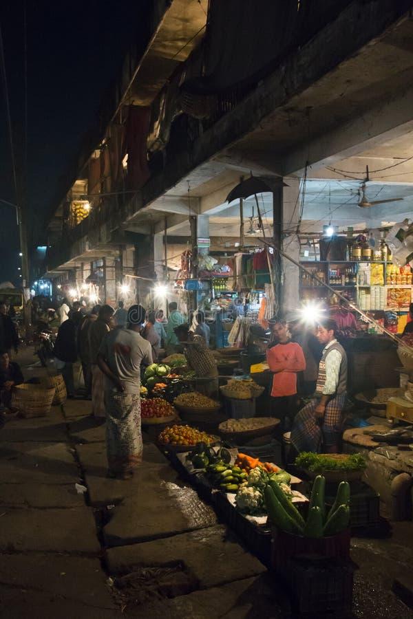 Le marché central dans Srimangal, Bangladesh photographie stock