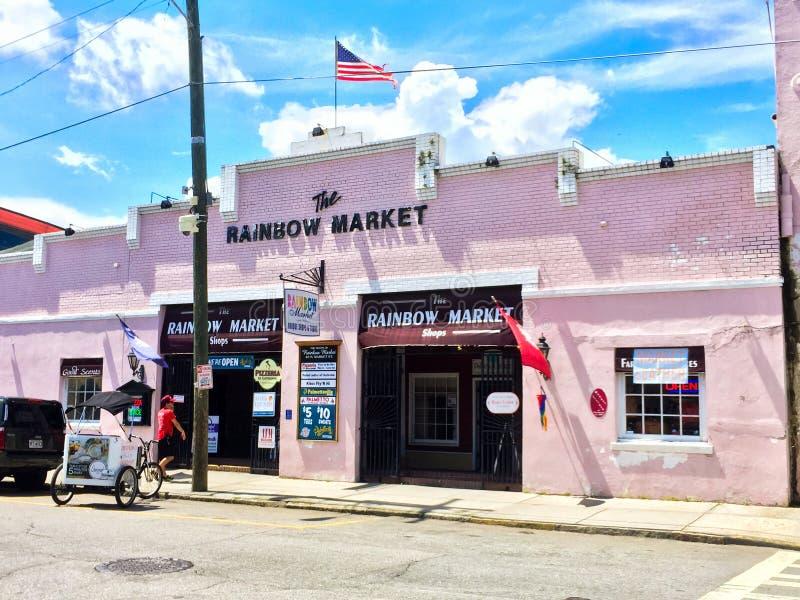 Le marché d'arc-en-ciel, Charleston, Sc images stock