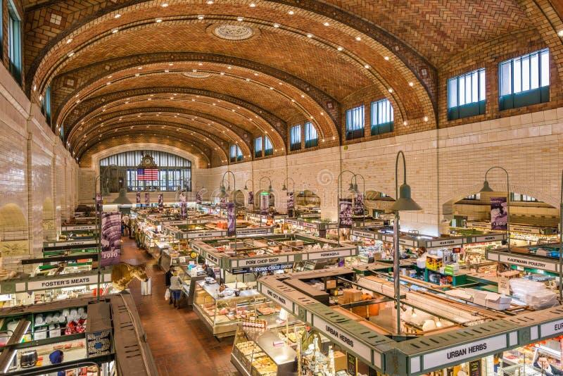 Le marché de côté Ouest en Cleveland Ohio images libres de droits