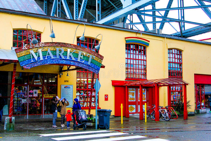 Le marché de l'enfant, Granville Island images libres de droits