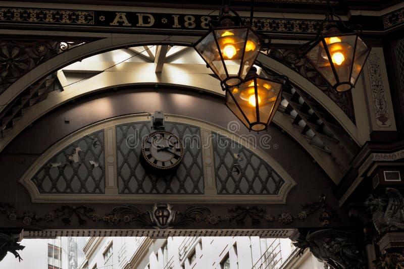 Le marché de leadenhall de l'après-midi images stock