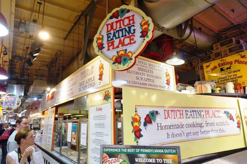 Le marché de matières premières de lecture à Philadelphie, PA photo stock