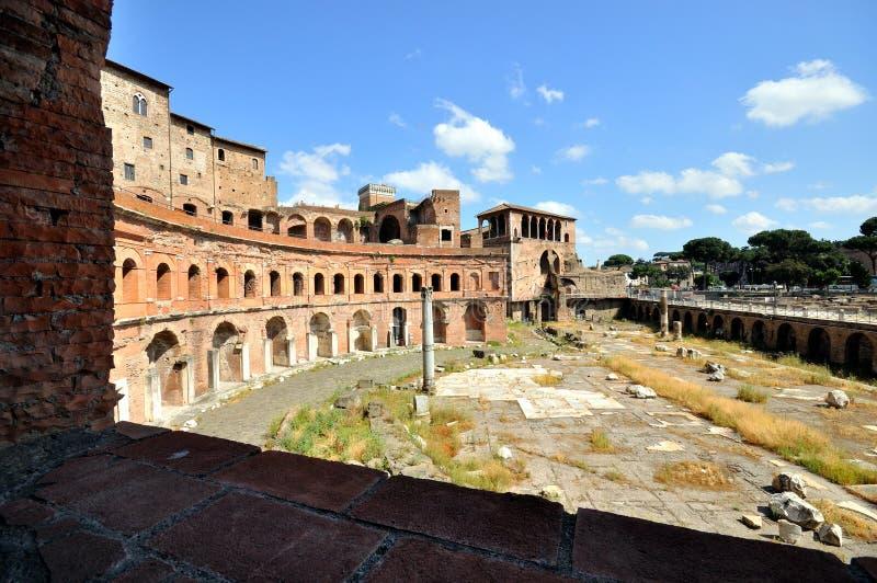 Le marché de Trajan, Rome image libre de droits