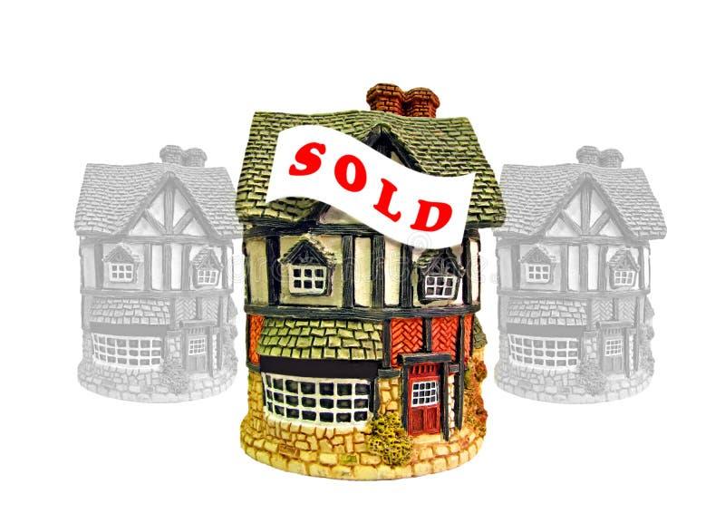 Le marché immobilier de logement a vendu le signe photos stock
