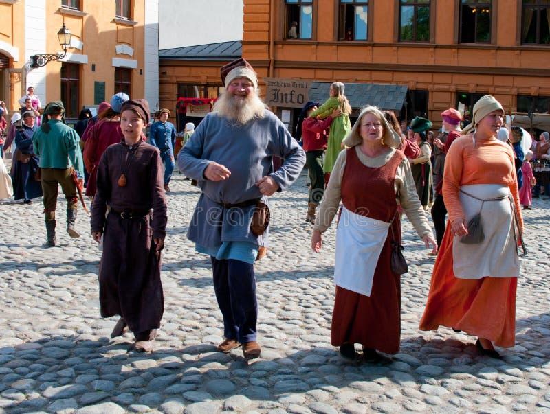 Le marché médiéval à Turku photos stock