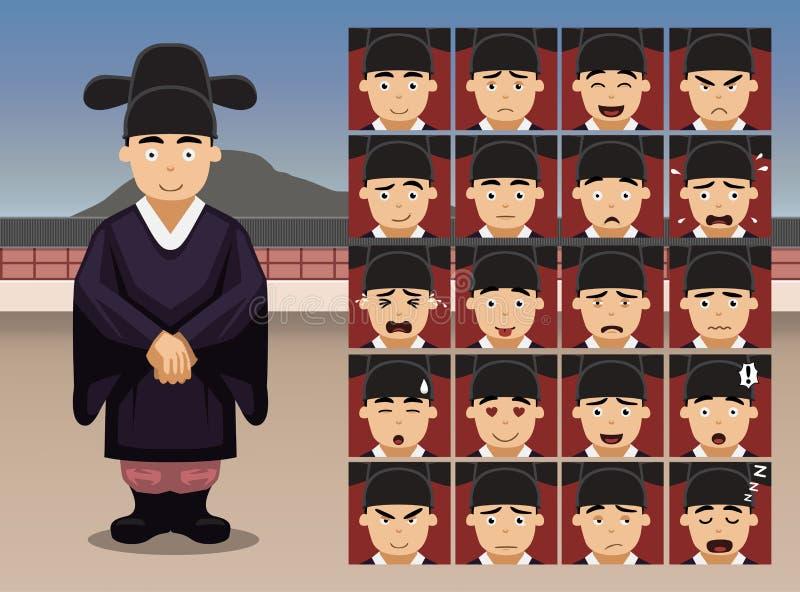 Download Le Marié Coréen Cartoon Emotion De Mariage Fait Face à L'illustration De Vecteur Illustration de Vecteur - Illustration du émotion, mignon: 87703296