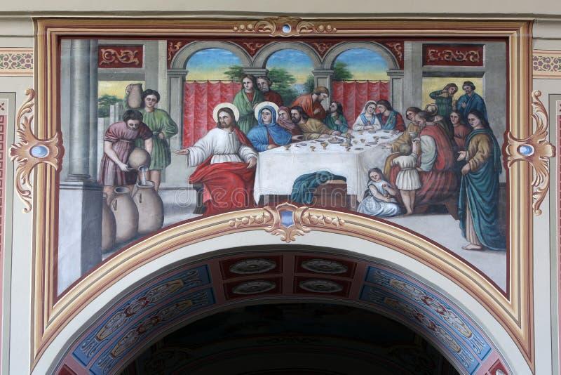 Le mariage chez Cana photo libre de droits