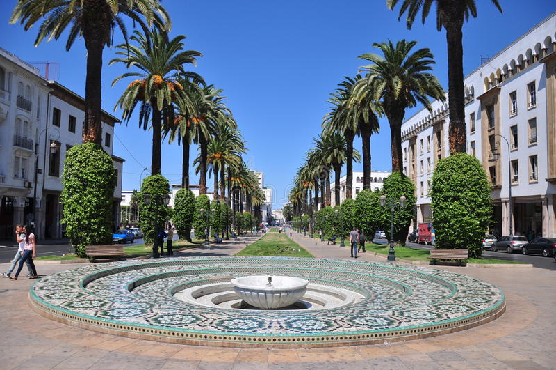 Le Maroc, grand dos de Rabat images libres de droits