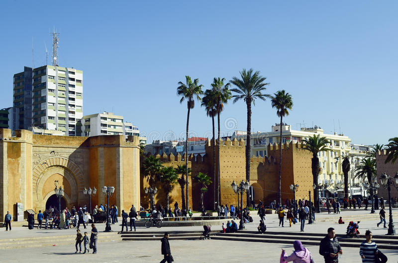 Le Maroc, grand dos de Rabat images stock