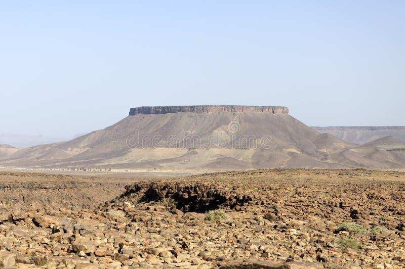 Le Maroc, Hamada du Draa, montagne image stock