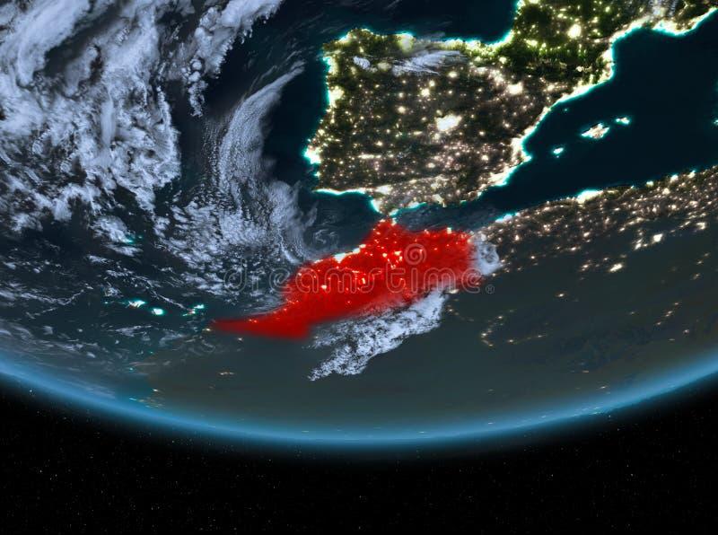 Le Maroc la nuit illustration de vecteur