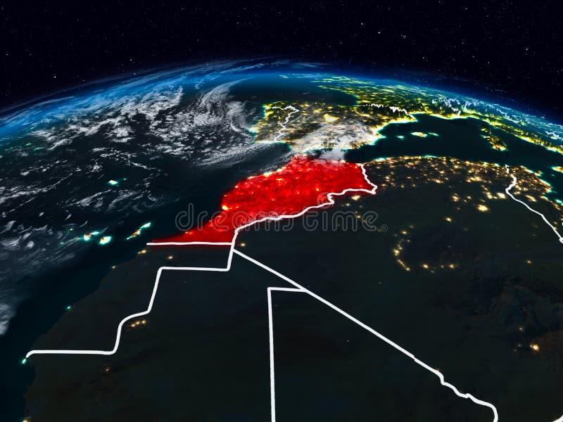 Le Maroc la nuit photographie stock libre de droits