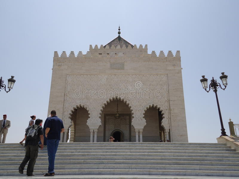 Le Maroc Rabat le mausolée de Mohamed V photographie stock