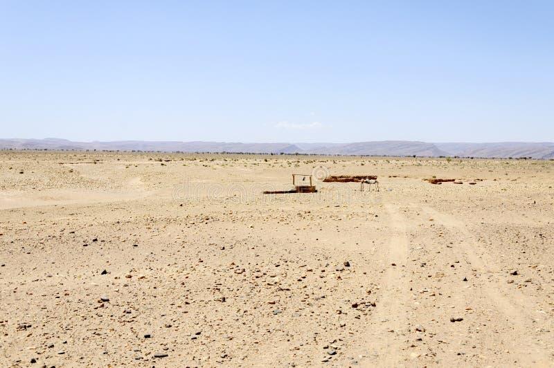 Le Maroc, vallée de Draa, puits photographie stock libre de droits