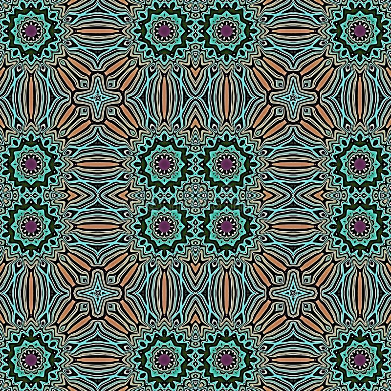 Le Marocain couvre de tuiles le fond sans couture de modèle illustration stock