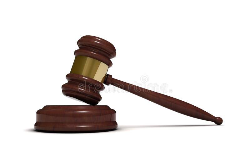 Le marteau du juge illustration libre de droits