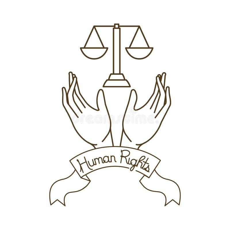 Le marteau du juge avec la r?ception ouverte de mains illustration libre de droits