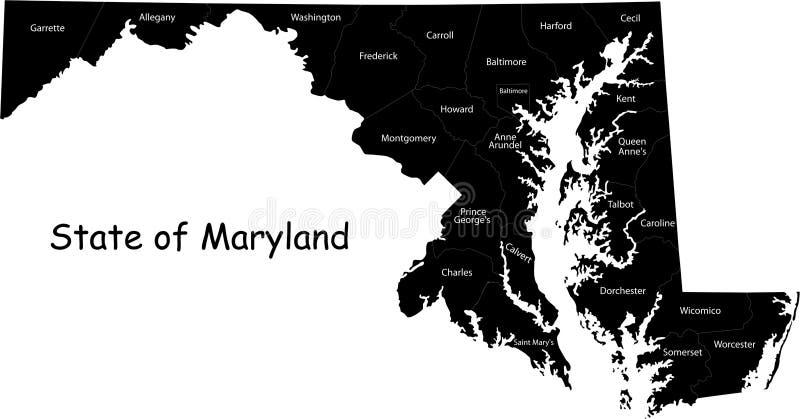 le Maryland illustration libre de droits