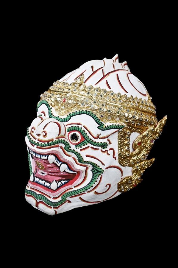Le masque de l'acteur traditionnel thaïlandais, mâle a masqué le drame de danse de la Thaïlande, Hua Khon image libre de droits