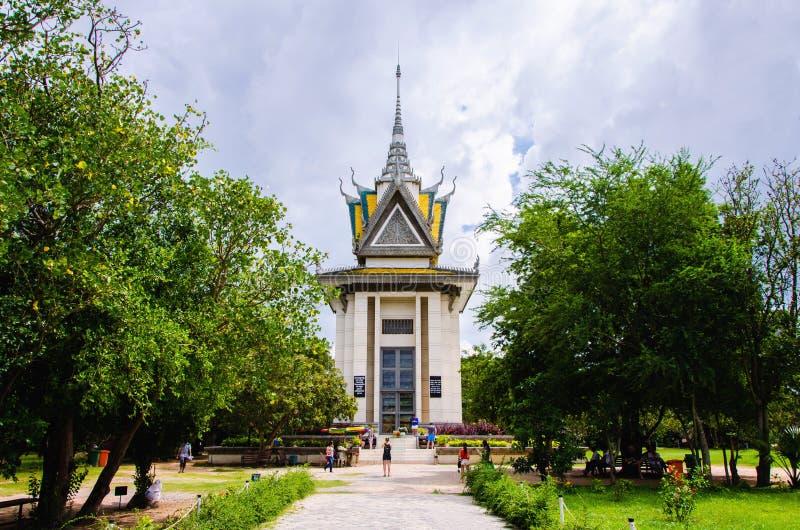 Le massacre de pagoda de crâne met en place Phnom Penh, Cambodge image libre de droits