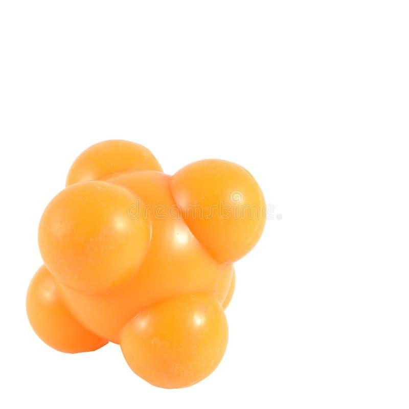 Le massage en caoutchouc de boule orange pour soulagent le chemin de coupure de points de douleur photographie stock libre de droits