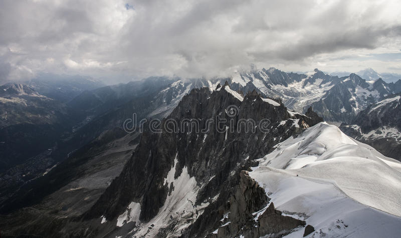 Le massif de Mont Blanc photos stock