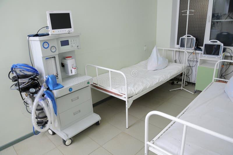 Le matériel dans l'hôpital. image stock