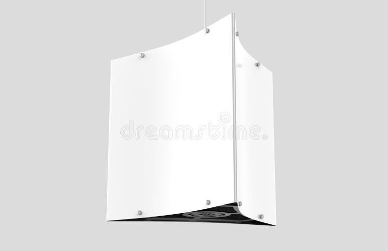 Le matériel de Dangler de plafond tient trois panneaux graphiques illustration libre de droits