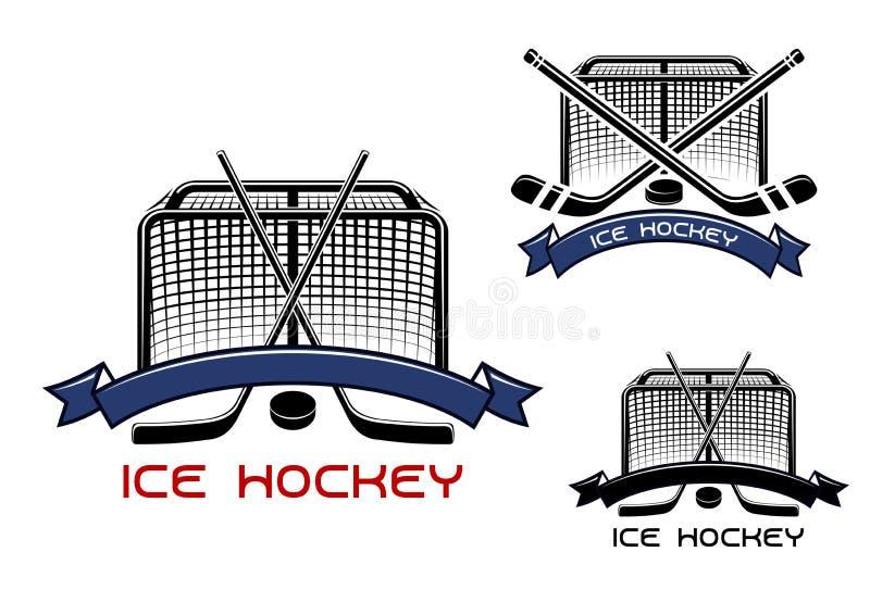 Le match de hockey de glace folâtre des symboles illustration stock
