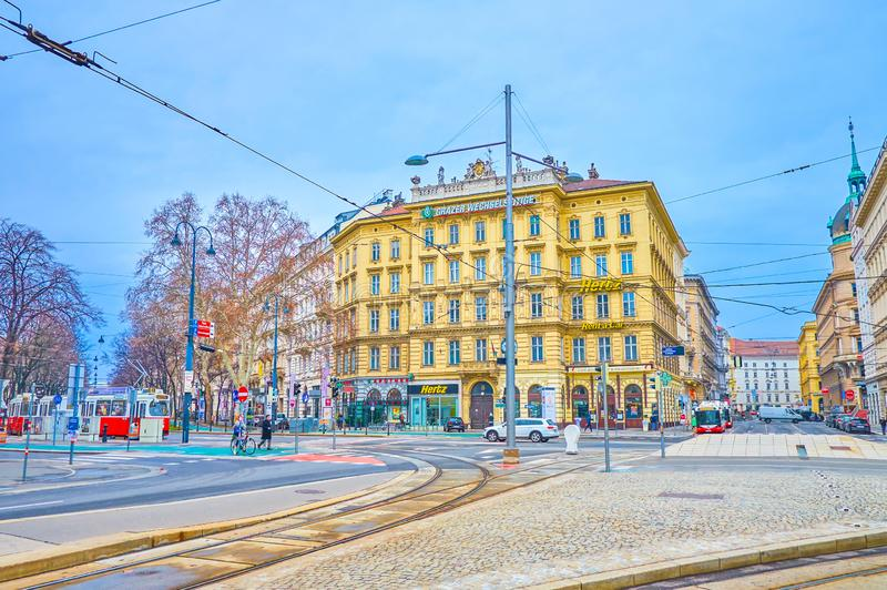 Le matin nuageux à Vienne, l'Autriche images libres de droits