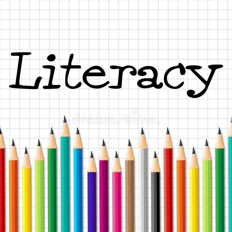 Le matite di alfabetizzazione rappresenta la competenza del treno e si sviluppano royalty illustrazione gratis