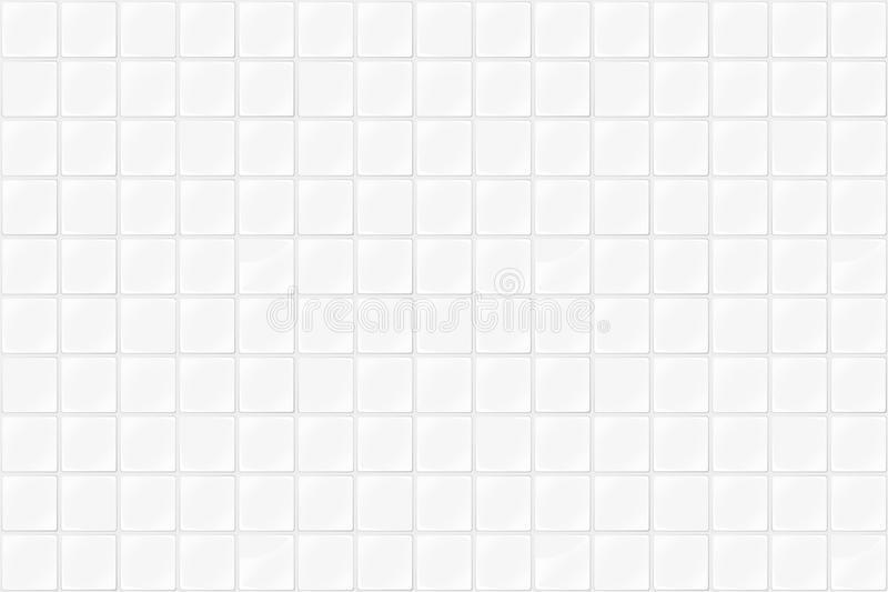 Le mattonelle strutturano il fondo senza cuciture Illustrazione bianca delle mattonelle illustrazione vettoriale