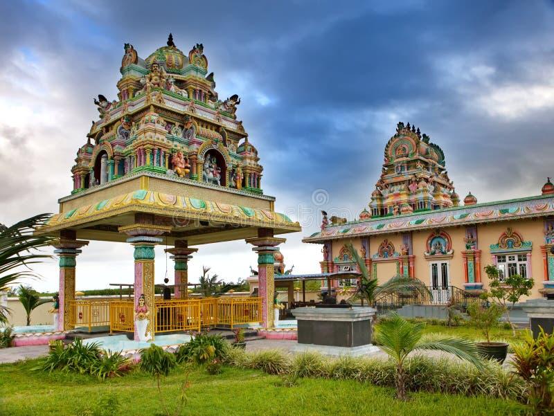 Le Mauritius. Tempio indù. fotografia stock