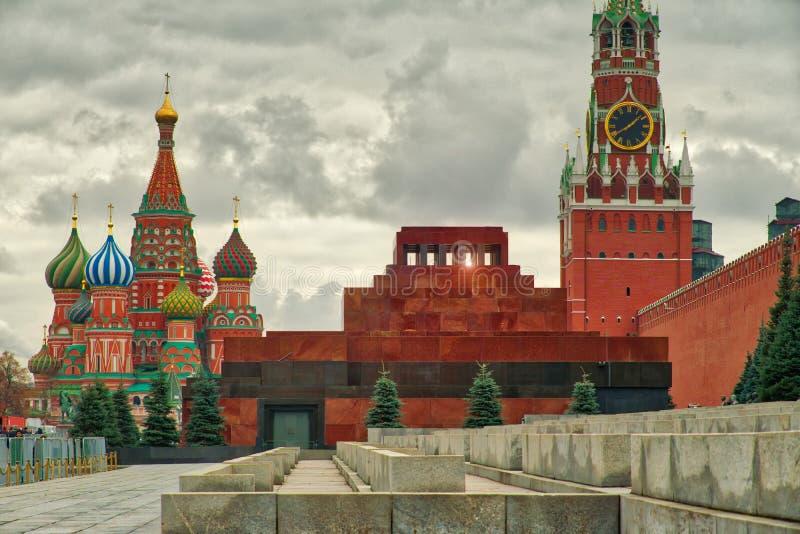Le mauselium du ` s de Lénine sur la place rouge image libre de droits