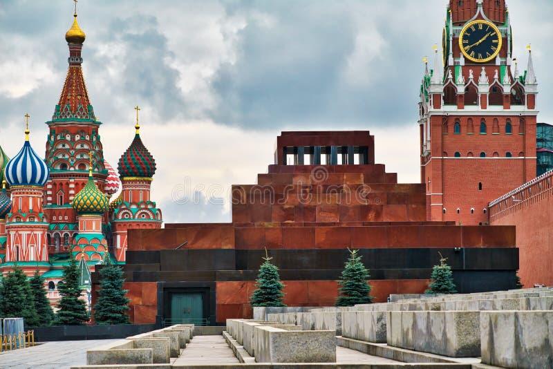 Le mauselium du ` s de Lénine sur la place rouge images libres de droits