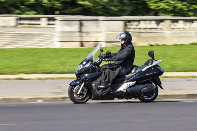 Le maxi scooter permutent photo stock