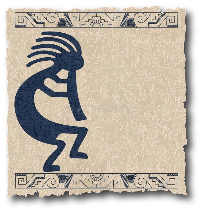 Le maya et l'Inca tribals sur le vieux papier illustration de vecteur
