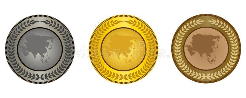 Le medaglie illustrazione vettoriale