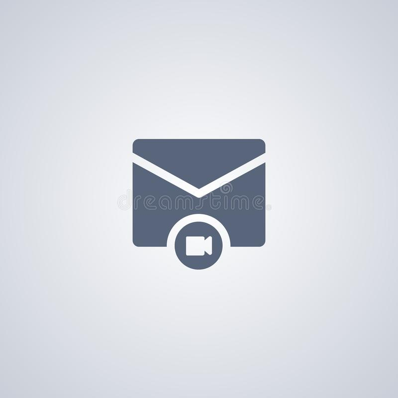 Le media expédie, le courrier visuel, dirige la meilleure icône plate illustration stock