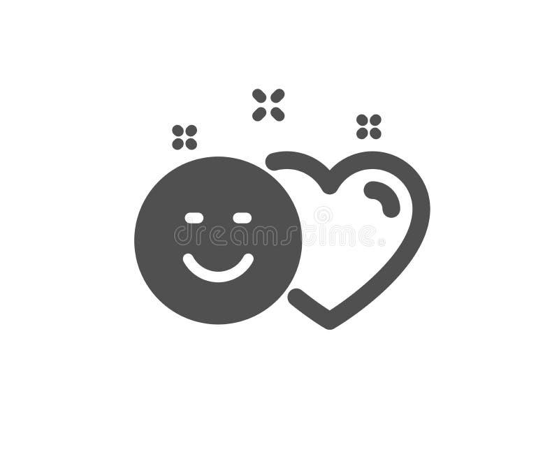 Le media social aime l'icône Coeur, signe de sourire Vecteur illustration de vecteur