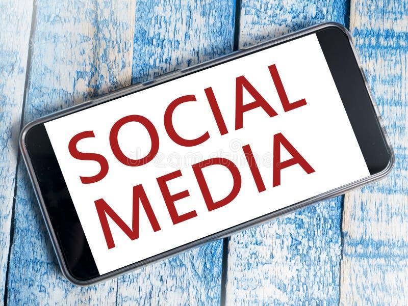 Le media social, media social d'Internet de motivation exprime les citations Co photos libres de droits